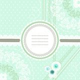 Mint ice cream lace design for greeting card Royalty Free Stock Photography