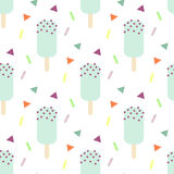 Mint ice cream seamless pattern Stock Photo