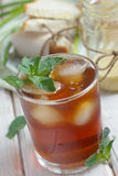 Mint iced tea. And sandwiches Stock Photography