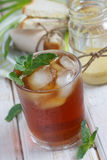 Mint iced tea. And sandwiches Royalty Free Stock Images
