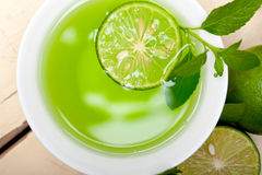 Mint infusion tea tisane with lime Stock Images