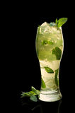 Mint jelly with ice and  leaves Stock Image