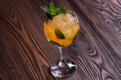 Mint Julep. Cocktail with ice and mint Royalty Free Stock Photo