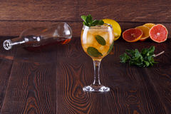 Mint Julep. Cocktail with ice and mint Royalty Free Stock Image