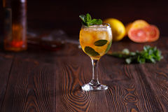 Mint Julep. Cocktail with ice and mint Royalty Free Stock Images