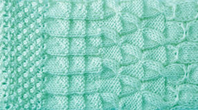 Mint Knitted Pattern Stock Image