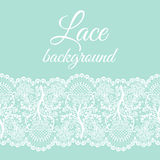 Mint lace border Stock Photography
