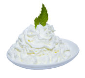 Mint Leaf in Whipped Cream royalty free stock photo