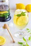 Mint and Lemon Iced Tea Royalty Free Stock Image