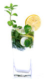 Mint and lemon soda drink stock photos