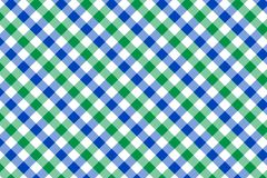 Mint and Light Blue Gingham pattern. Texture from rhombus/squares for - plaid, tablecloths, clothes, shirts, dresses, paper,. Bedding, blankets, quilts and vector illustration