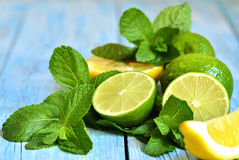 Mint with lime. Royalty Free Stock Photos