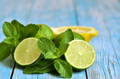 Mint with lime. Stock Image