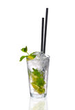 Mint-lime cocktail in a glass Royalty Free Stock Photo