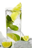 Mint, lime ice vodka Stock Image