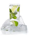 Mint, lime ice vodka Stock Photo