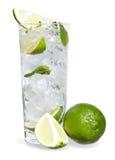 Mint, lime ice vodka Stock Photos