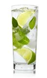 Mint, lime ice vodka Royalty Free Stock Photos