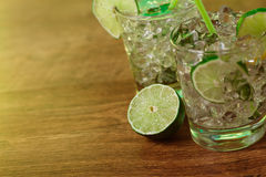 Mint and lime refreshing summer cocktails Royalty Free Stock Photography