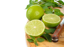 Mint and limes Stock Photos