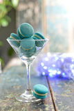Mint macaroon Stock Images