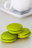 Mint marron cookies Royalty Free Stock Image