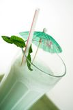 Mint milkshake. Peppermint vanilla shake stock photos
