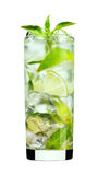 Mint Mojito drink. A mint mojito drink in a glass Royalty Free Stock Images