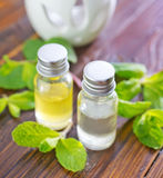 Mint oil Royalty Free Stock Photo