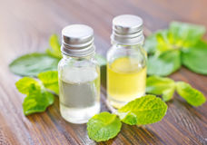 Mint oil Royalty Free Stock Image