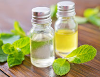 Mint oil Stock Images