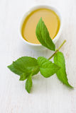 Mint with olive oil Royalty Free Stock Images
