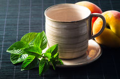 Mint and peaches Royalty Free Stock Photo