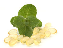 Mint pills Royalty Free Stock Photography