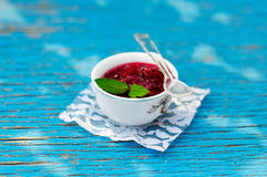 Mint Raspberry Jam Royalty Free Stock Images