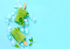 Mint refreshing popsicles Royalty Free Stock Image