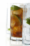 Mint's cocktail. Cocktail with mint and cola royalty free stock photos