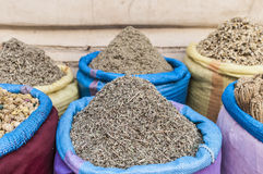 Mint sack in Marrakech souk at Morocco Royalty Free Stock Photo