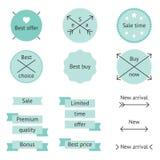 Mint sale labels Stock Photos