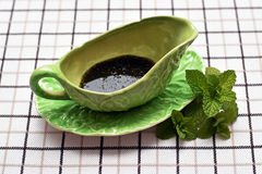 Mint Sauce in Green Jug stock photos