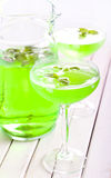 Mint spritzer in glasses Royalty Free Stock Photos