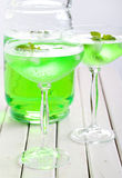 Mint spritzer in glasses Stock Photography