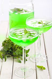 Mint spritzer in glasses Royalty Free Stock Photography