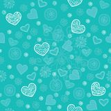 Mint and sugar seamless pattern Stock Photos