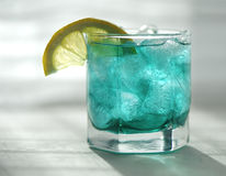 Mint syrup with a lemon and ice Stock Photo