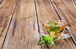 Mint tea. Made of fresh mint leaves stock photos