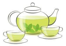 Mint tea royalty free illustration