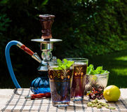 Mint tea. Arabic traditional refreshing mint tea Stock Image