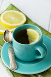 Mint tea in blue cup Stock Image