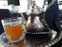 Mint tea. In a cafe in tangier  medina Stock Image